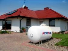 zbiornik gazowy naziemny o pojemności 2300l - AmeriGas (źródło fot. amerigas.pl)