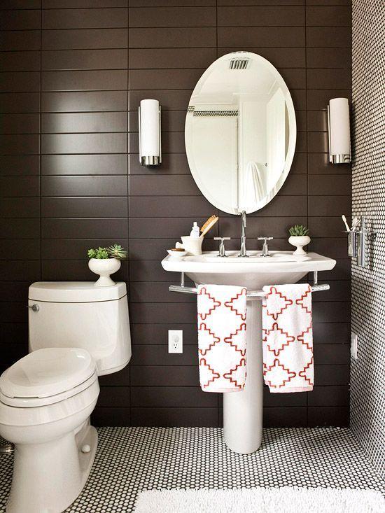 Aranżacja łazienki w brązowym kolorze