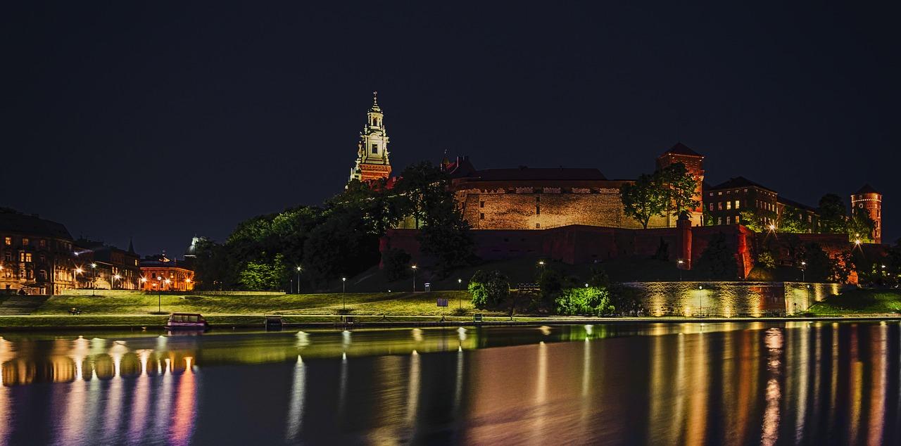 widok na Kraków nocą