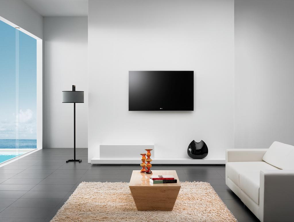 salon telewizor na ścianie